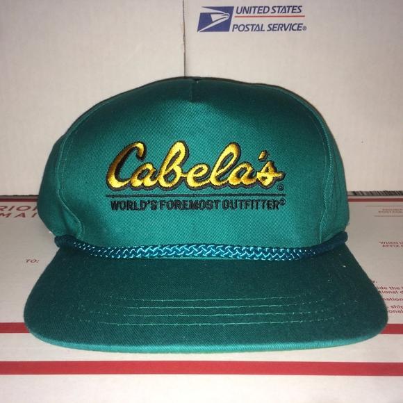 Cabela s Other - Cabela s Teal Blue hat Outfitter Hunting Fish VTG 662c1fa89300